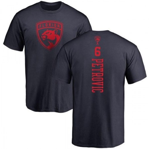Alexander Petrovic Florida Panthers Youth Navy One Color Backer T-Shirt -